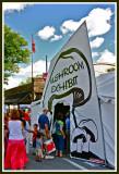Entrance to mushroom exhibit