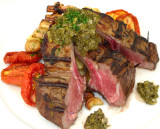 Rack of Lamb with Salsa Verde & Oven Dried Tomatoes
