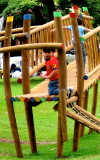 Playing in Parqueo Benito Juarez