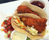 Crispy Fish Tacos with Spicy Coleslaw