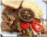 Meatloaf, Mashed Potatoes, Salad,  Mushroom Gravy