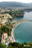 town of Sorrento  from high on the coast