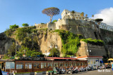 above the port  of Sorrento