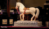 white chocolate horse at the Demel shop