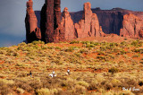 riding in Monument Valley