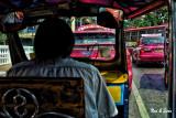 speeding through traffic