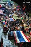 overview of  Damnoen Saduak floating market