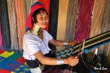 woman with hand loom
