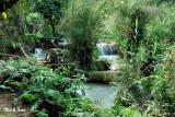 water wheel at  Khouang Si Waterfall