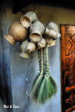 baskets and brooms