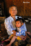 Lao grandmother and child