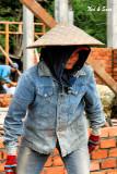 woman bricklayer