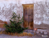 weathered wall  and doorway
