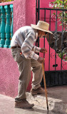 the oldest man  in Mulege finally reaches his destination