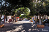 canopied  shopping district in Loreto