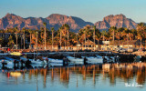 mountain  backdrop - Loreto harbor