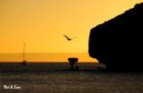 sunset over  Balancing Rock