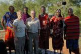 Ned and Sara with Masai porters
