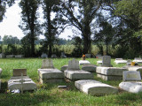 Riverlake Plantation Cemetery in Oscar, Louisiana,  next to Sugar Cane Fields