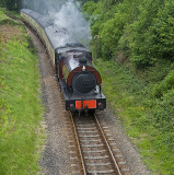 Steam Train Leaving Newby Bridge Station