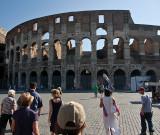 Roman Colosseum -- Two Exterior Views