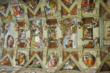 A Portion Of The Ceiling Of The Sistine Chapel
