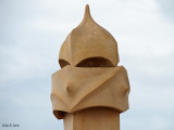 Chimney On The Rooftop Of Casa Milà