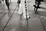 Stilt-Walking Record Attempt
