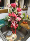 Roses and Lilies getting a bath