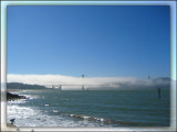 Golden Gate bridge in fog