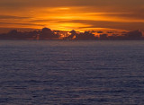 Green Flash at Sunset off Depoe Bay, OR