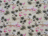 Flamingo fabric detail