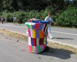 Bestrickend schöne Mülltonne