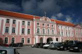 Pink Parliament building! (Riigikogu)