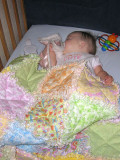 She loves her new quilt