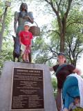 Visiting Dorothy (and Toto) at Oz Park