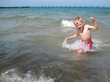 Wow, Lake Michigan is cold!