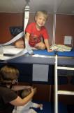 Simon tests his bed