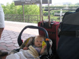 Waiting for a train in DC