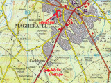 Map - Ireland - Co. Derry - Magherafelt  - Glenburn & Wylie Cottage