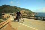 Cyclist Crossing Bixby Bridge