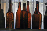 Old bottles in Bodie Museum