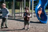 Playground with Sarah and Robert in Norwalk 9-21-09