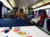 Breakfast in dining car