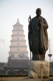 Big Wild Goose Pagoda, Statue of Xuanzang
