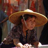 Woman on Nathan Road