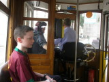 Riding the tram