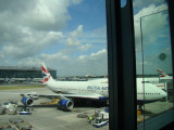delayed at Heathrow