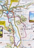 Straiton monument & Bennan circuit route map