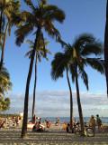 Waikiki beach close to sunset